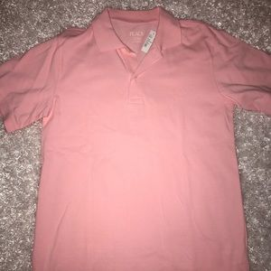 Kids pink polo shirt